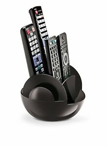 Remote Control Holder Home Storage Organizer Swivel Tool Black Caddy TV Stand