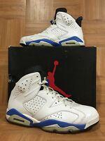 RARE🔥 Nike Air Jordan 6 VI Retro White LE Sport Blue Black Sz 11 384664-107 LE