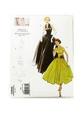 Vogue V2962 Pattern Sz DD (12-14-16-18) Original 1957 Halter Dress Pattern Uncut
