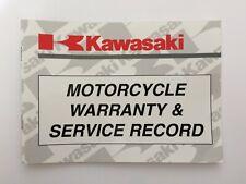 KAWASAKI ZXR ZZR GTR ETC. WARRANTY & SERVICE RECORD BOOK