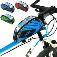 """Universal Bicycle Bike Cycling Frame Pannier Front Tube Bag For Cell Phone 5.5"""""""