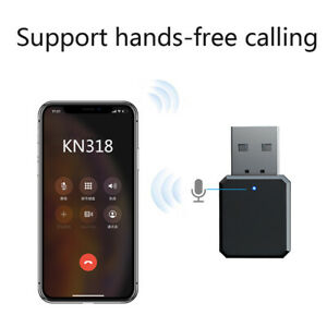USB Bluetooth 5.1 Musik Stereo Wireless Audio Receiver Adapter Home Auto PC AUX