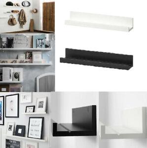 Ikea MOSSLANDA Photo Picture Ledge Rail Shelf Kitchen Office Work, White / Black