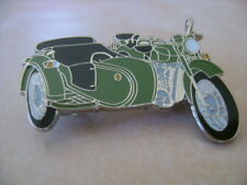 Dnepr With Side Car in Green   Ural Hat Pin Lapel Pin