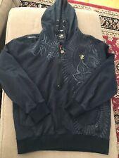 Akademiks Men's Long Sleeve Half Zip Hoodie Sweatshirt Black Size X-Large (SC)