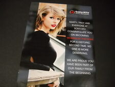 TAYLOR SWIFT Woman Of Year for a HISTORIC 2nd time PROMO POSTER AD mint cond.