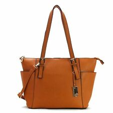 ROBERT MATTHEW KHLOE TOTE - TOASTED CARAMEL RETAIL $195.00  BRAND NEW W-TAGS