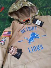 Nike Men's Medium Detroit Lions Salute to Service Hoodie Therma DriFit On-Field