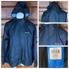 Columbia Men's Black Hooded Big & Tall Windbreaker Jacket $90 US Men's Size 4XL