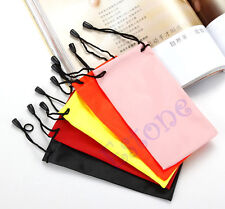 5pcs Soft Dust Cleaning Cloth Sunglasses Glasses MP3/4 Pouch Carry Bag Case New