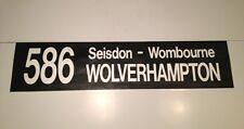 "Midland Red Bus Blind 36""- 586 Wolverhampton Wombourne Seisdon"