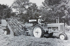 "12 By 18"" Black & White Picture John Deere 1941 Early Styled Model B w/ baler"
