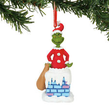 Dept 56 Grinch 2018 Into The Chimney Musical Ornament #6000310 New