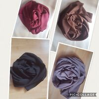 Best Chiffon Scarf Hijab High Quality Elegant Sarong Shawl Wrap Plain Maxi Soft