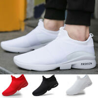 Men's BLACK Sneakers Casual Lightweight Walking Tennis Athletic Running Shoes