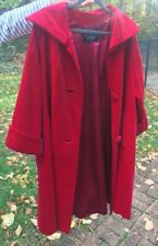 New listing Vintage red velvet women's swing coat absolutely beautiful