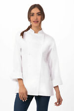 Chef Works Unisex Elyse Premium Cotton Chef Coat (Ecla)