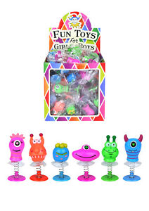 5 Pop Up Jumping Monster Childrens Toy Party Bag Christmas Stocking Fillers UK