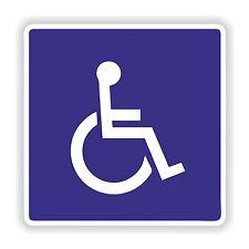 Etiqueta engomada de 1x símbolo de Acceso Discapacitados Azul Para Nevera coche de parachoques Locker Sombrero duro