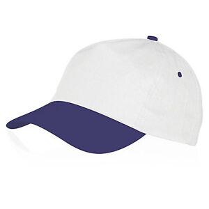 CAPPELLO Cappellino BICOLORE con VISIERA Precurvata BASEBALL Unisex CAP Golf HAT