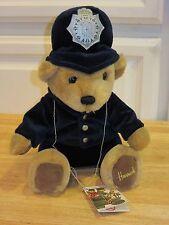 "Nwt Harrods Teddy Bear Police Knightsbridge London Bobby Stuffed 11"" Plush Toy"