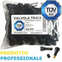 50 Valvole Tubeless TR413 (Corte) ideale per cerchio in Lega AUTO E MOTO