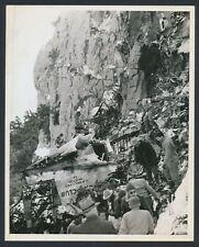 "1942 ""The Death of Carole Lombard"", Dramatic Photo of TWA Flight 3 Wreckage"