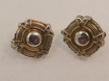 Antique Victorian Style Silver Plated Hook Earrings
