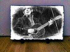 "Jackson Browne Sketch Art Portrait on Slate 8x6"" rare collectable memorabilia"