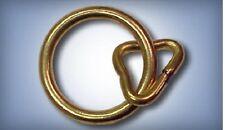 """5ea 3/4"""" Steel Loop And Ring w/ Brass Plate 3610Stbp"""