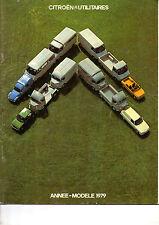 Catalogue publicitaire Gamme CITROEN UTILITAIRES 1979 hy acadiane gs c35 mehari