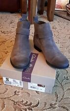 BNWB Clarks Taupe Suede Ankle Boots UK Size 5 EU 38  RRP £70