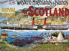 Ouest Écosse Écosse BATEAU VAPEUR Bac Aimant de réfrigérateur (OG)