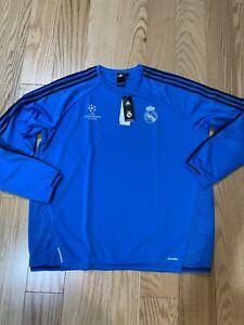 Adidas 2015/16 Real Madrid EU Training Top Football Jersey L/S Blue S88987 XXL