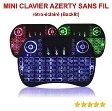 MINI CLAVIER SANS Fil AZERTY Rétro-Eclairé (Backlit) Pour Android / PC  / MAC