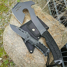 4 in 1 Outdoor Set Beil + Messer + Feuerstarter BW Axt Survival Tomahawk