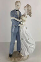 "Vintage Man And Woman Porcelain Statue Figurine 14 1/2"" TALL"