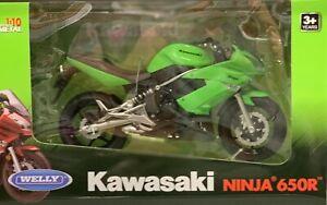 Welly 1:10 Scale 2009 Kawasaki Ninja 650R Diecast Motorcycle Replica Gift
