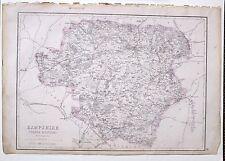 1864 LARGE ANTIQUE MAP ~ HAMPSHIRE NORTH WINCHESTER BASINGSTOKE ODIHAM