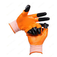 5x Protection against Oil Hardwearing Nitrile Coating Protective WORK Gloves