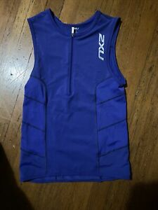 2XU Womens XL Cycling Sleeveless Jersey Triathlon Top