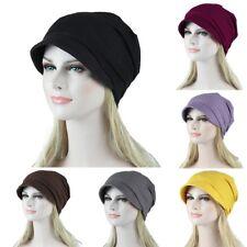 Muslim Turban Hat Stretch Cover Cap Chemo Cancer Beanie Hair Loss Head Wrap