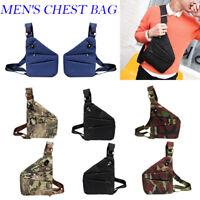 Men's Shoulder Bag Sling Chest Pack Sports Crossbody Handbag Satchel Travel Bag