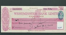 WBC. - ASSEGNO-CH1298-Usato -1944 - Westminster Bank, Ilford, Essex.