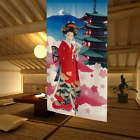 Japanese Classical Beauty Sketch Noren Curtain Room Doorway Divider Tapestry NEW