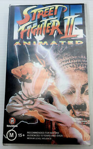Street Fighter II VHS Video Cassette Tape Clear Small Box PAL M15+