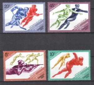 USSR 1984 Olympic Games - Sarajevo 4 MNH Stamps