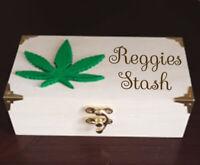 Personalised Wooden box Cannabis marijuana weed stash 420 stoner gift valentine