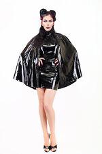 Black PVC Bodysuit Mini Dress With The Shawl / Black PVC Bodycon Dress With A C