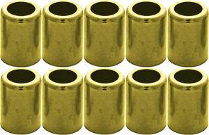 "Brass Ferrule for Air & Water Hose #7327 1/4"" ID/.625 ID/1.000 L/.437 P 10-Pack"
